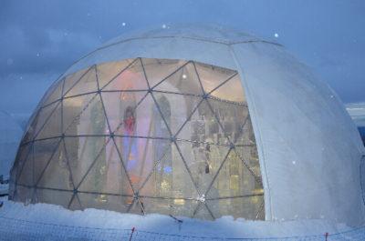 igloo in winter tentify